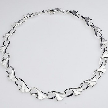 Ginkgo Collier in 925er Silber