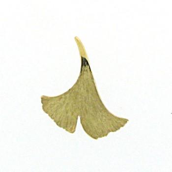 Ginkgoanhänger Gold 750 Nr.40 18kt