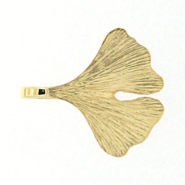 Ginkgoanhänger Gold 750 18kt