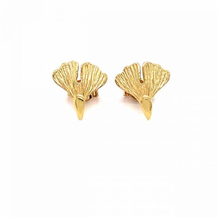 Ginkgo Ohrstecker Sterlingsilber 925 vergoldet Nr. 25-925-vg