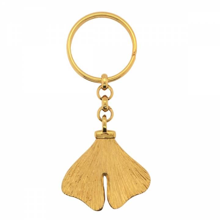 Ginkgo Schlüsselanhänger Sterlingsilber 925 vergoldet Nr. 12-925-vg