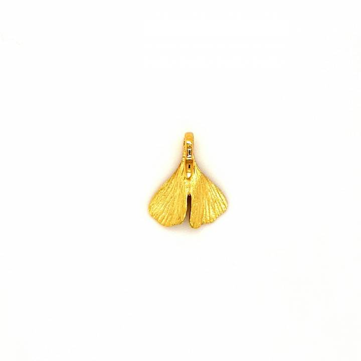 Ginkgo Anhänger Gold 750 Nr. 8-750