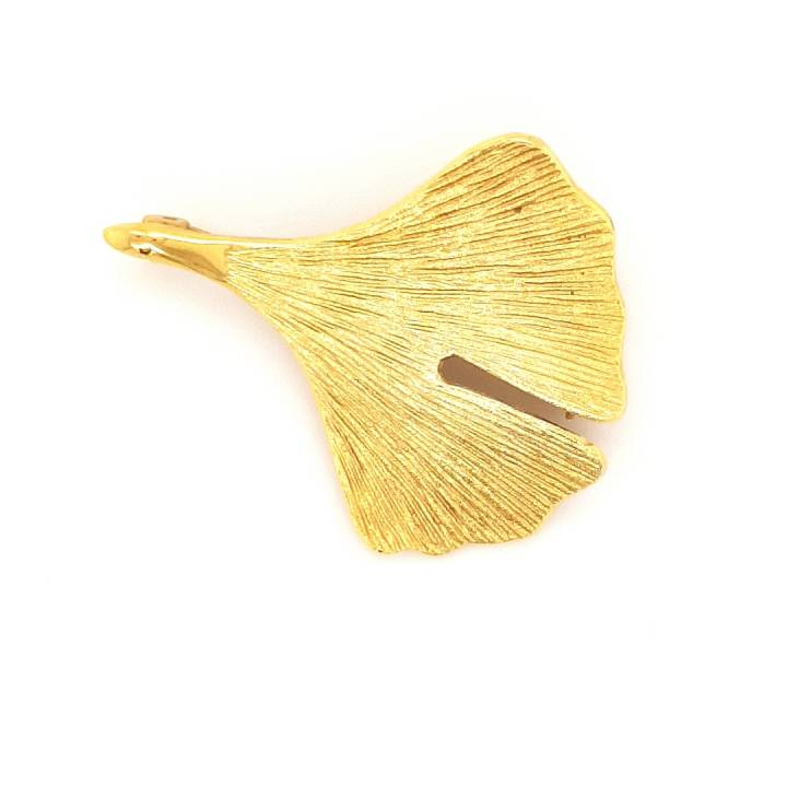 Ginkgo Nadel Sterlingsilber 925 vergoldet Nr. 16n-925-vg