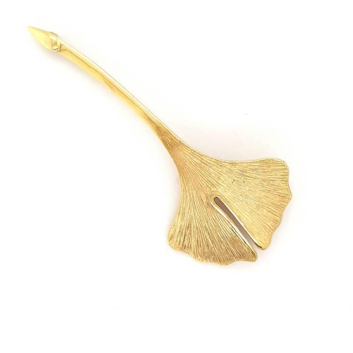 Ginkgo Nadel Sterlingsilber 925 vergoldet Nr. 29-925-vg