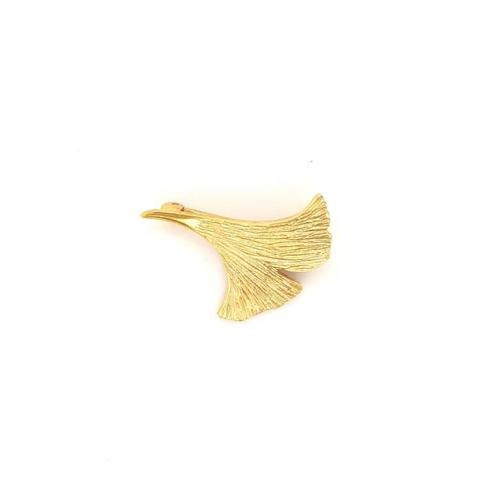 Ginkgo Nadel Sterlingsilber 925 vergoldet Nr. 40n-925-vg