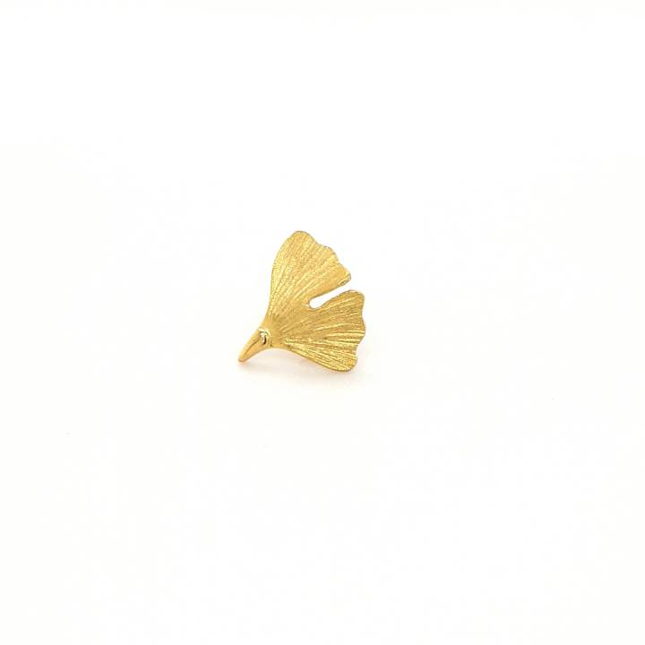 Ginkgo Stick Pin Sterlingsilber 925 vergoldet Nr. 6-925-vg2