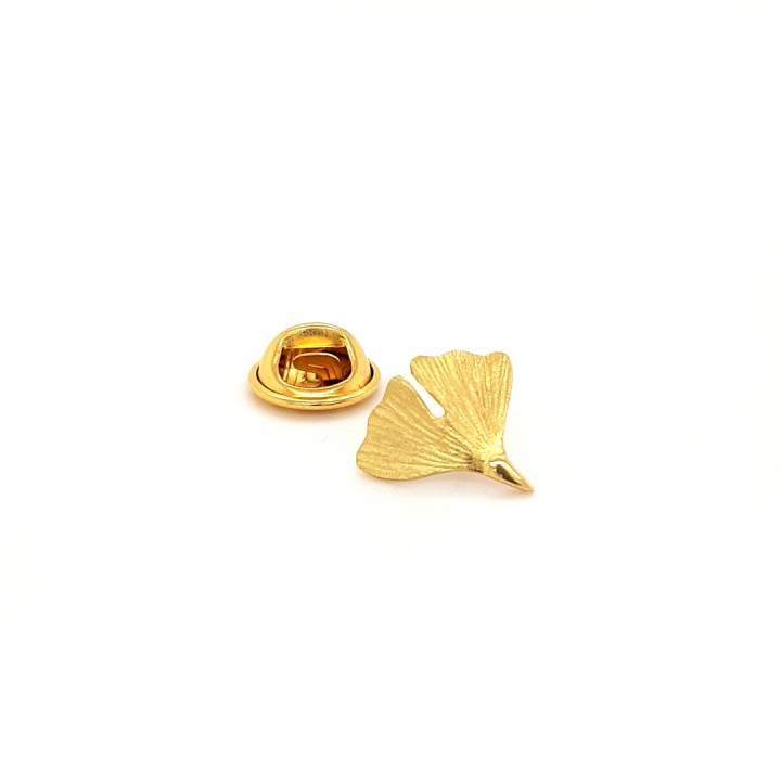 Ginkgo Stick Pin Sterlingsilber 925 vergoldet Nr. 6-925-vg