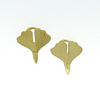 Ginkgo Ohrclip Gold 585