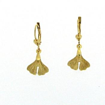 Ginkgo Ohrpendel Gold 585