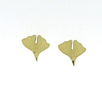 Ginkgo Ohrstecker Gold 750