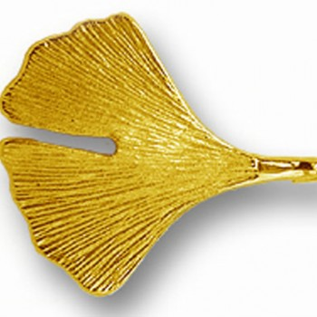 Ginkgobrosche in 585er Gold
