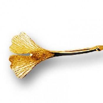 Ginkgobrosche in 750er Gold