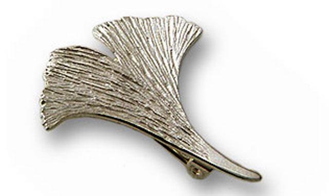 Ginkgobrosche in 925er Silber