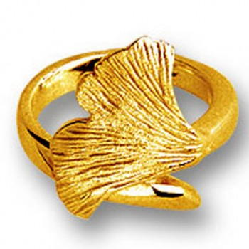 Ginkgo Ring Gold 750