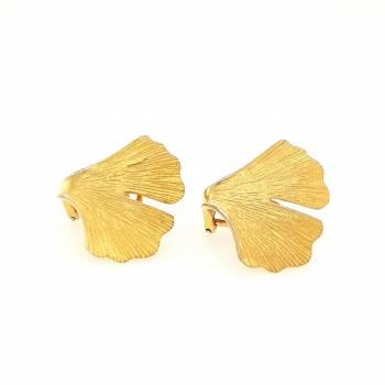 Ginkgo Clipstecker Sterlingsilber 925 vergoldet Nr. 43-925v