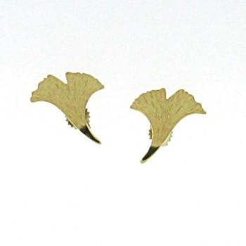Ginkgo Ohrstecker Gold 585