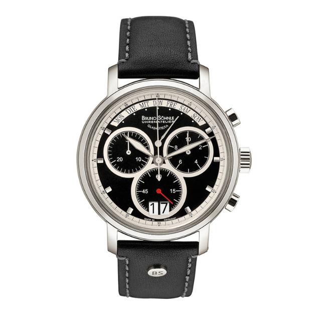 Bruno Söhnle Marcato Uhr aus Edelstahl mit Lederarmband