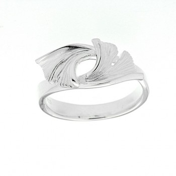 Ginkgo Ring Sterlingsilber 925