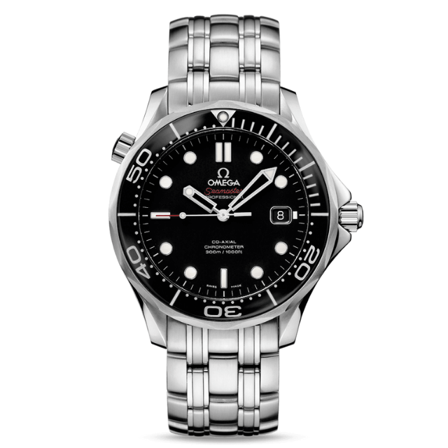 Omega Seamaster Diver Uhr aus Edelstahl mit Metallarmband