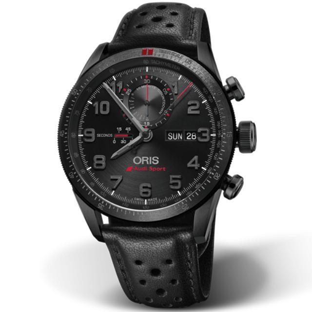 Oris Audi Sport Limited Edition II 01 Uhr aus Titan mit Lederarmband