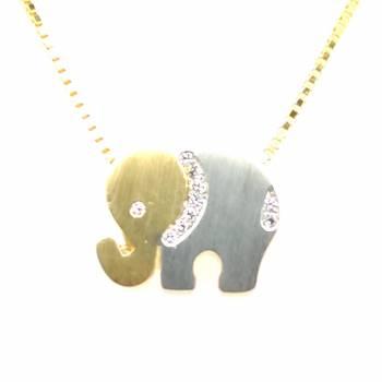 Anhänger Elefant bicolor mittel