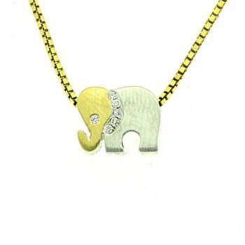 Anhänger Eelefant bicolor klein H2-88