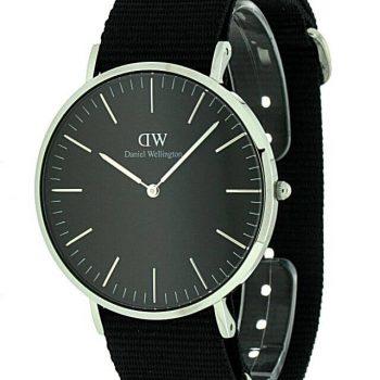 Daniel Wellington Black Cornwall silver DW00100149