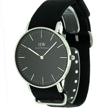 Daniel Wellington Black Cornwall silver DW00100151
