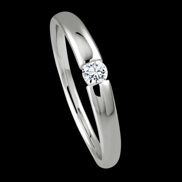 Verlobungsring Spannring 0,09ct. OE4519