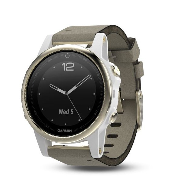 Garmin fenix5s Goldfarben mit grauen Armband 010-01685-13