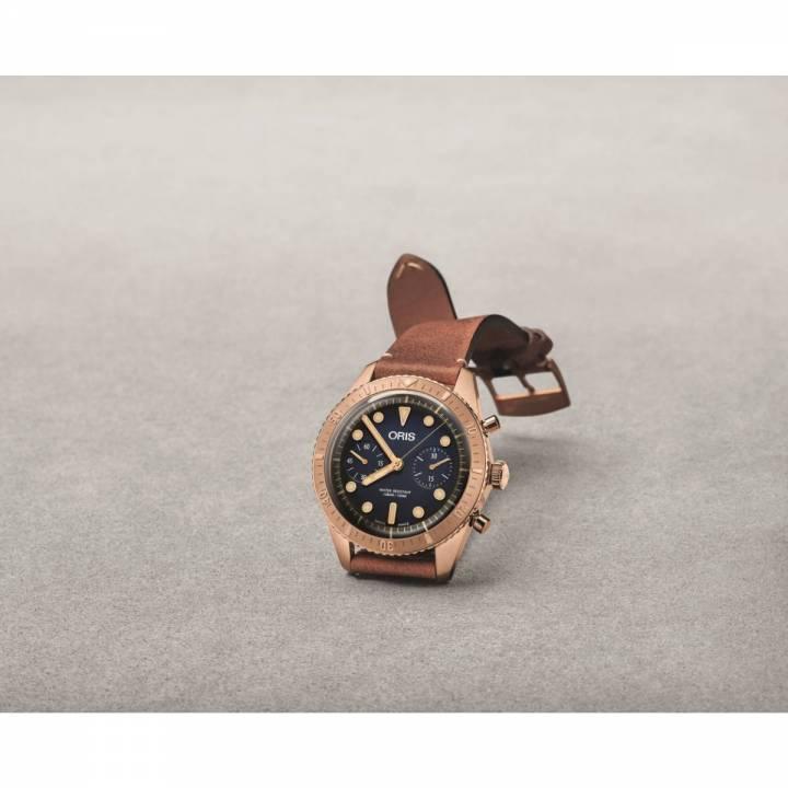 Oris Divers Carl Brashear Chronograph (01 771 7744 3185-Set LS) Herrenuhr