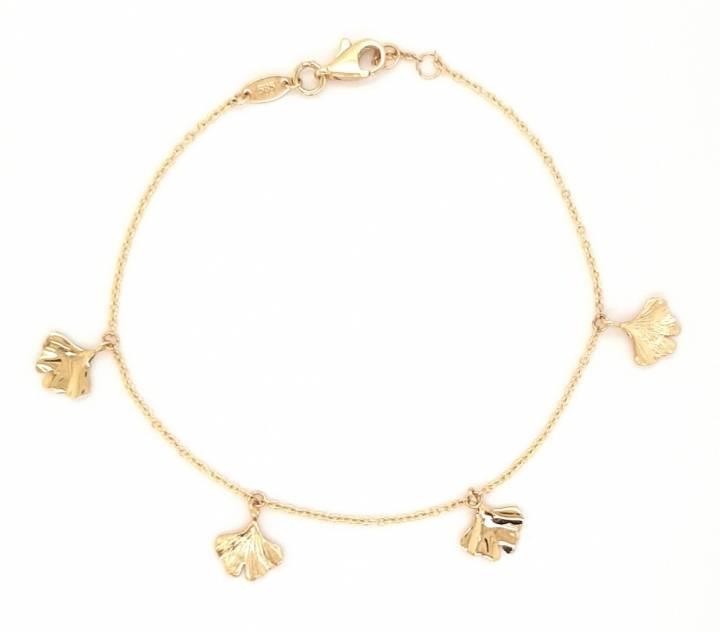 Ginkgo Armband Gold 585 Nr. OE3630