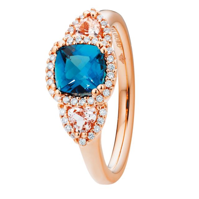 Capolavoro Ring Espressivo London Blue Topas Morganit RI9TOL02660.MOG