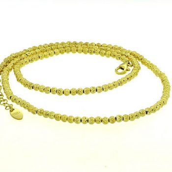 Kugelkette Silber gelbvergoldet OE378023