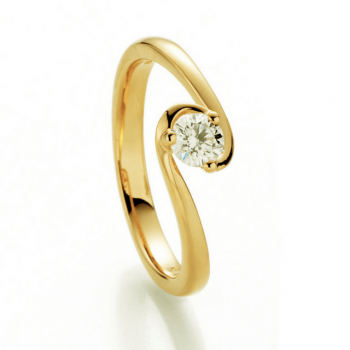 Brillantring Joy 0,40ct Gelbgold