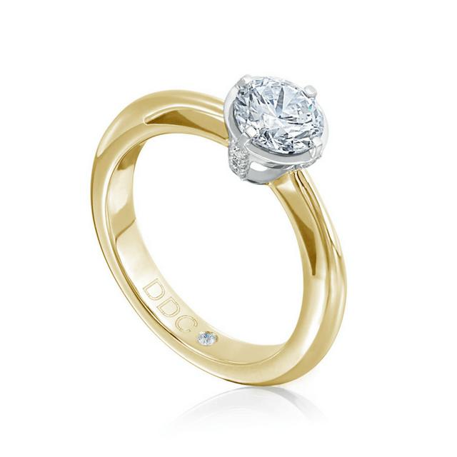 Brillantring Royal 0,40ct Gelb-Weißgold