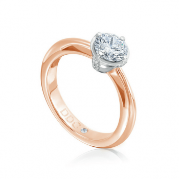 Brillantring Royal 0,70ct Rosé-Weißgold