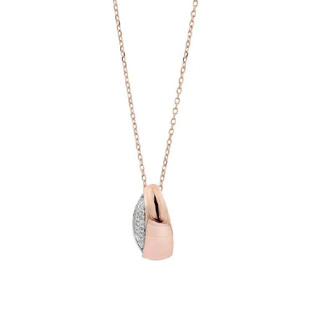 Diamant Collier Gelbgold 0,03ct P0140Q53
