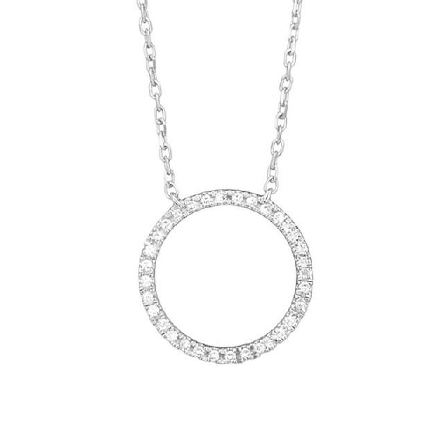Diamant Collier Kreis Weißgold 0,08ct P0140Q23