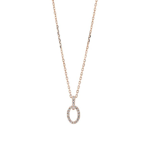 Diamant Collier Roségold 0,06ct P0140Q64