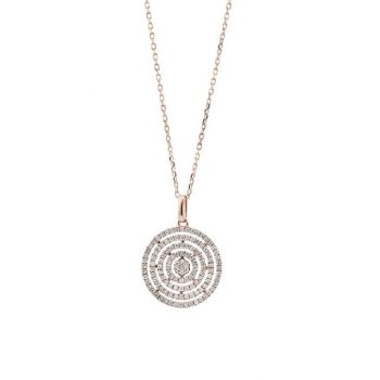 Diamant Collier Roségold 0,35ct P0140156