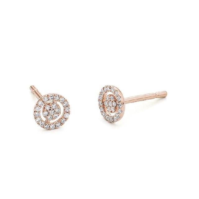 Diamant Ohrstecker Roségold 0,14ct E7140071