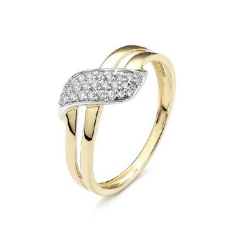 Diamantring Gelbgold 0,15ct R0140Q97