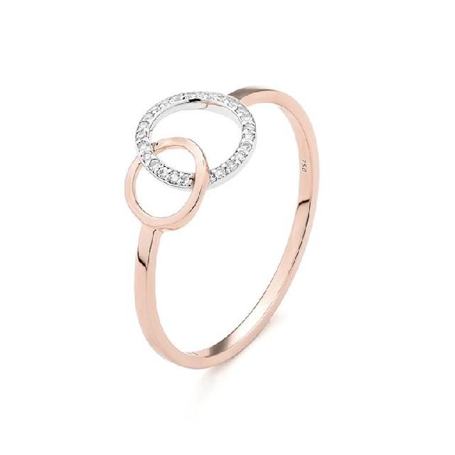 Diamantring Rosé-Weißgold 0,04ct R0140R06
