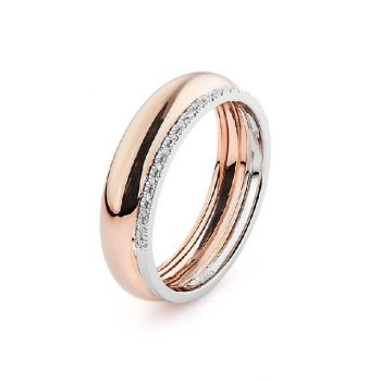 Diamantring Rosé-Weißgold 0,05ct R0140Q37