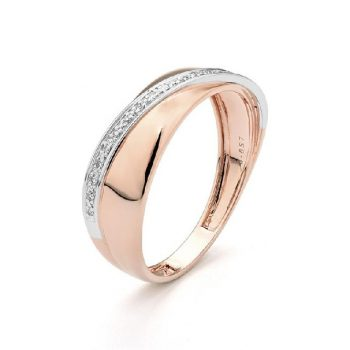 Diamantring Rosé-Weißgold 0,05ct R0140R10
