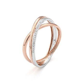 Diamantring Rosé-Weißgold 0,07ct R0140R31