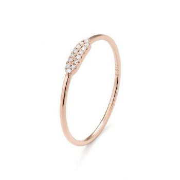 Diamantring Roségold 0,04ct R0140R44