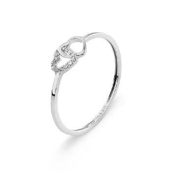 Diamantring Weißgold Herz R0140Q76