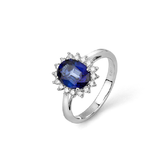 Saphir Brillantring 2,67ct R9107104